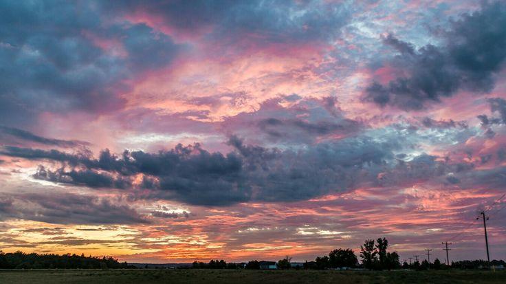 #sunset #beautiful #countryside #sun #sky #clouds