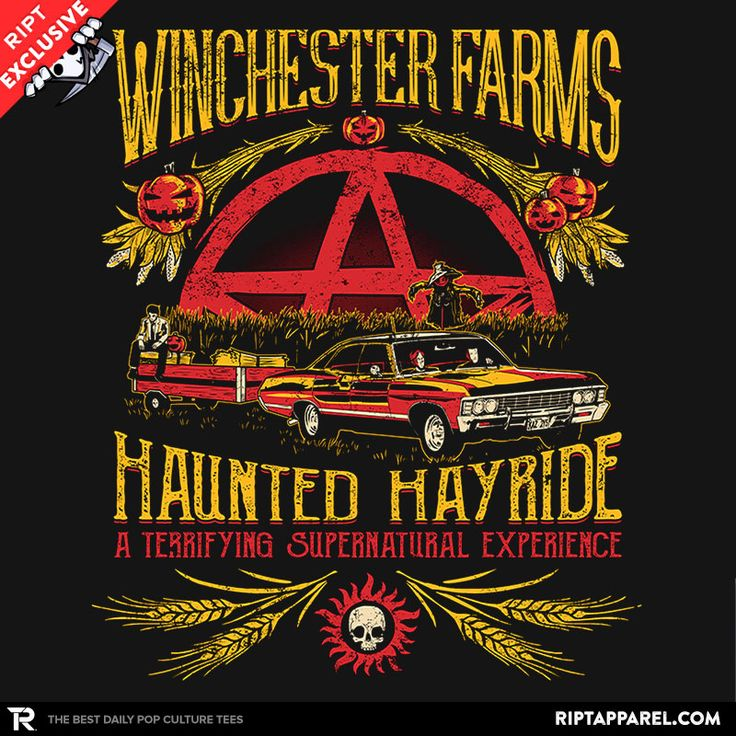 Winchester Farms Haunted Hay Ride T-Shirt - Supernatural T-Shirt is $11 today at Ript!