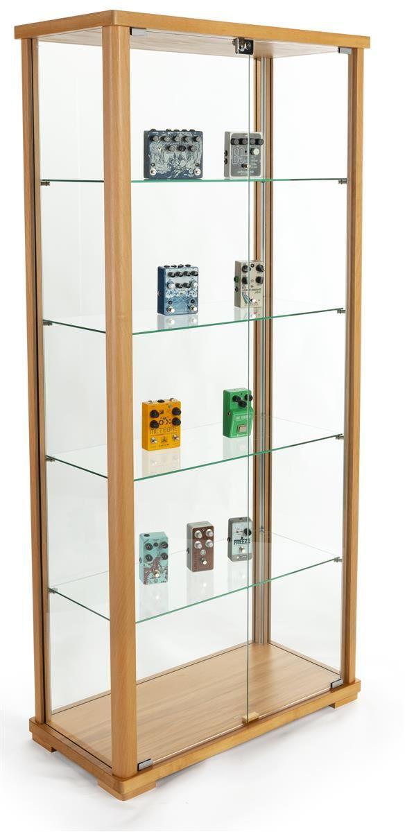 31 5 Glass Display Case Adjustable Shelves Locking Ships Unassembled Hornbeam Glass Cabinets Display Glass Cabinet Doors Glass Shelves