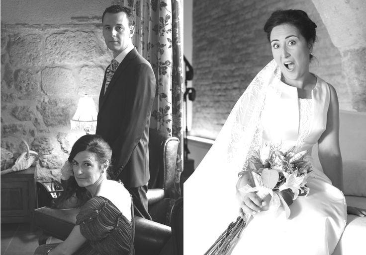 Preparándose para la boda. Nervios, alegría, concentración… / Preparing for the wedding. Nerves on edge, joy, concentration … #boda #preparativos #espera #ramo #vestido #sensaciones #novia #novio #amigos #groom #bridal #wedding