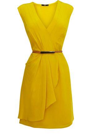 Silk Drape Dress.