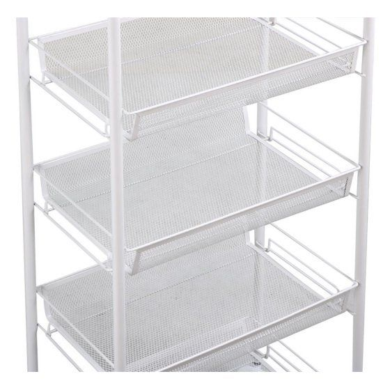 A perfect choice this Metal Rolling Cart 5 Shelving Utility Wire Tray Portable Unit is an ideal solution for saving and moving materials at home or at office.