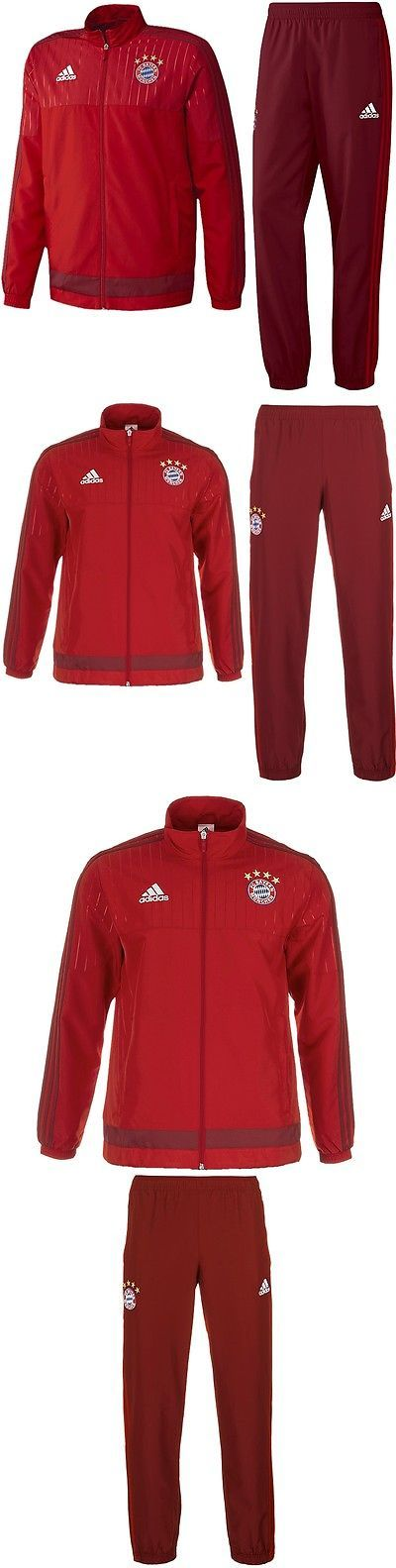 Track Suits 59339: Adidas Fc Bayern Pres Men S Track Suit Fc Bayern Red Jogging Sports Suit New -> BUY IT NOW ONLY: $105.29 on eBay!
