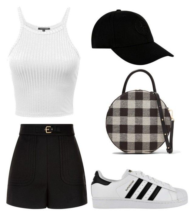"""""""Untitled #108"""" by anais-maria on Polyvore featuring RED Valentino, adidas, Mansur Gavriel and STONE ISLAND"""