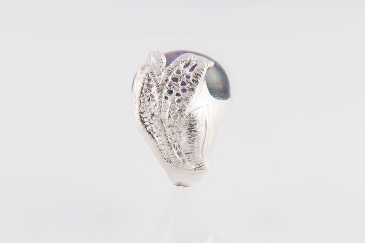 Handmade ring. Silver and Fluorite