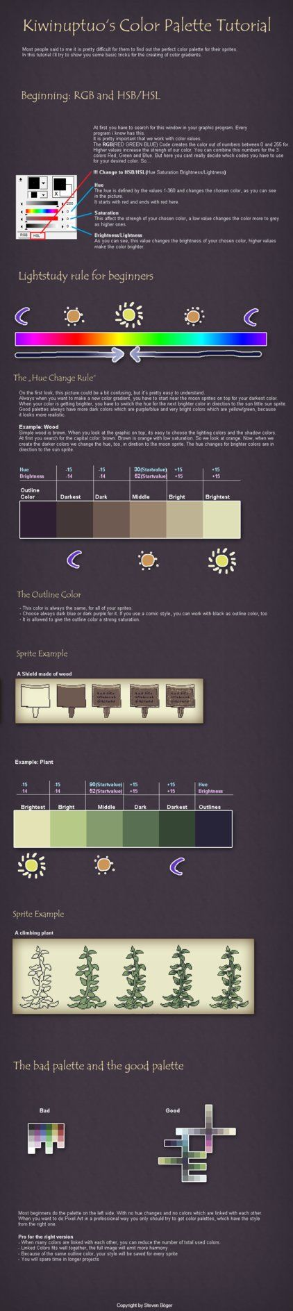 Pixel Art Tutorial - Colors by *Kiwinuptuo on deviantART