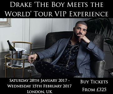 Didn't get a chance to bag yourself a ticket for Drake's European tour? Well look no further, Cornucopia Events are offering VIP tickets at the O2 Arena, London. This will be Drake's third headlining tour in the UK. So, why not sit in the best seats and enjoy the show? Visit: http://www.cornucopia-events.co.uk/drake-vip-the-boy-meets-world-tour-experience/ to book your tickets now.