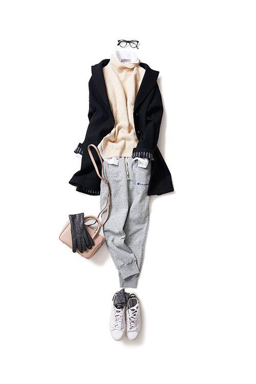 上品に着るスウェットスタイル 2016-02-07 | shirt price :27,000 brand : POGGIANTI  | trousers brand : Champion  | bag price :32,400 brand : MAXIMA / HIGH-CLASS |
