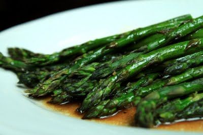 Roasted Asparagus with Balsamic Browned Butter Sauce