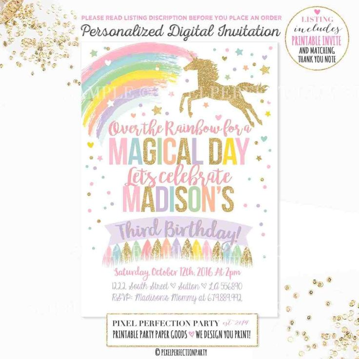 The  Best Diy Birthday Party Invitation Template Ideas On