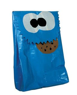 Project Ideas: Duct Tape Projects: Cookie Monster Duct Tape Lunch Bag