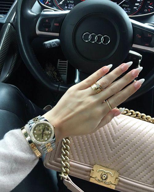 nails, luxury, and audi image