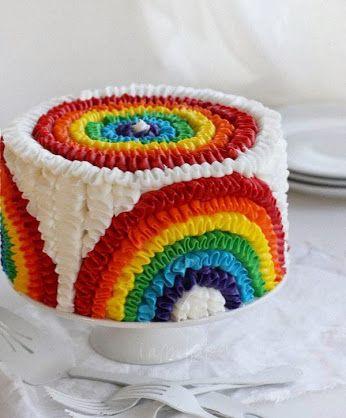 """regenboog """"bruids""""taart"""