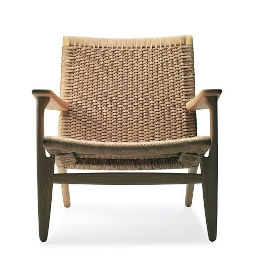 Hans Wegner CH25 Easy Chair. Designed in 1950 and as wonderful as ever. Danish mid-century modern full of texture that works well with so many decor styles - contemporary, coastal, vintage modern, etc.