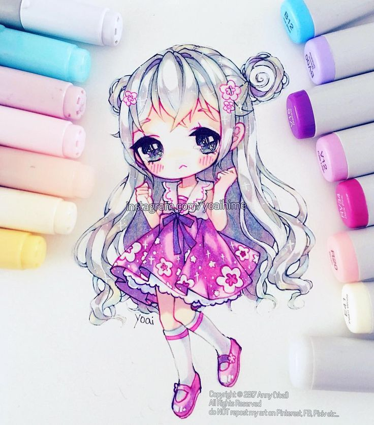 """24.1 mil curtidas, 71 comentários - Yoai / Anny ⊂((・▽・))⊃ (@yoaihime) no Instagram: """"Ahh I wish I can get back into drawing more chibis, but I'm finding it more difficult to do than…"""""""