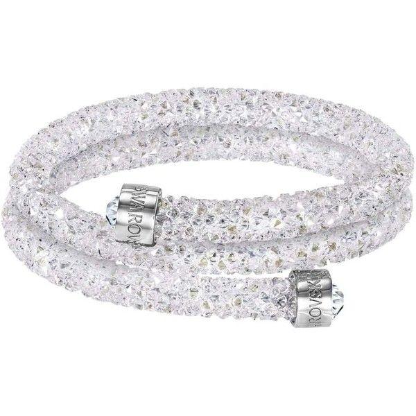 Swarovski Rolled Rocks White Crystal Wrap Bracelet 5237754 | John ...