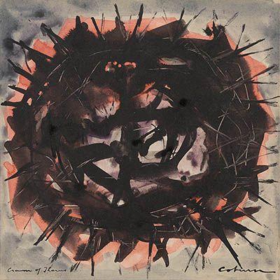Artist:JOHN COBURN, Study for 'Crown of Thorns' $2,500 - 3,500