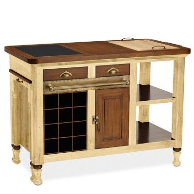 I love the Bastille Kitchen Island, Cherry/Beige on Williams-Sonoma.com