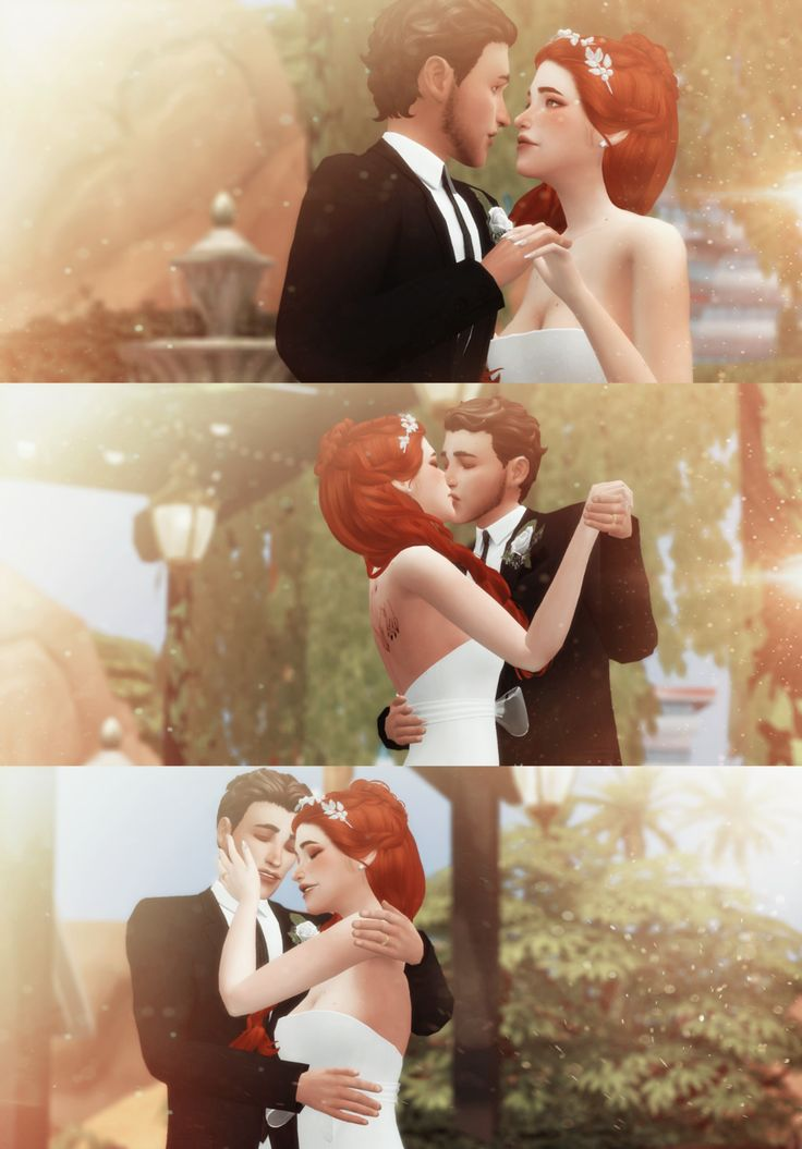 sims 4 cc // custom content pose pack // WEDDING DAY