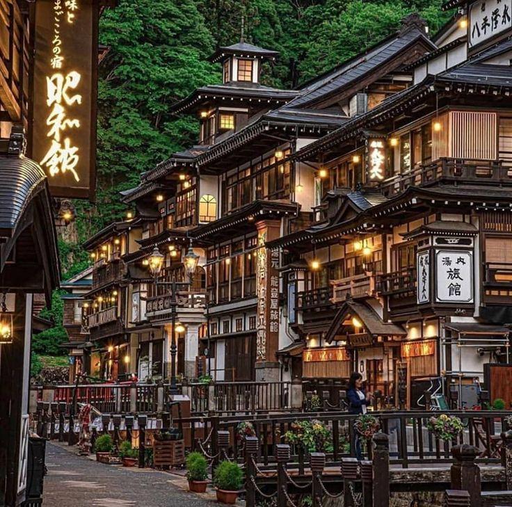 La encantadora ciudad de Ginzan Onsen, Yamagata, J…