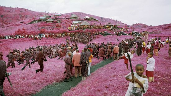 Richard Mosse - pink soldiers