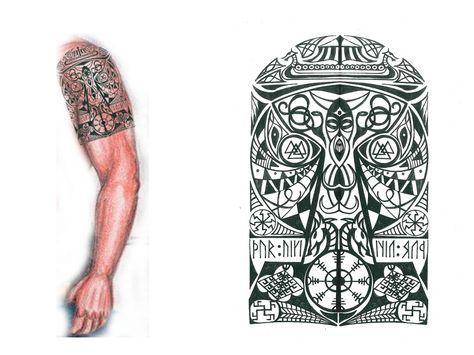 Thor's Hammer Viking tribal tattoo 2 by thehoundofulster