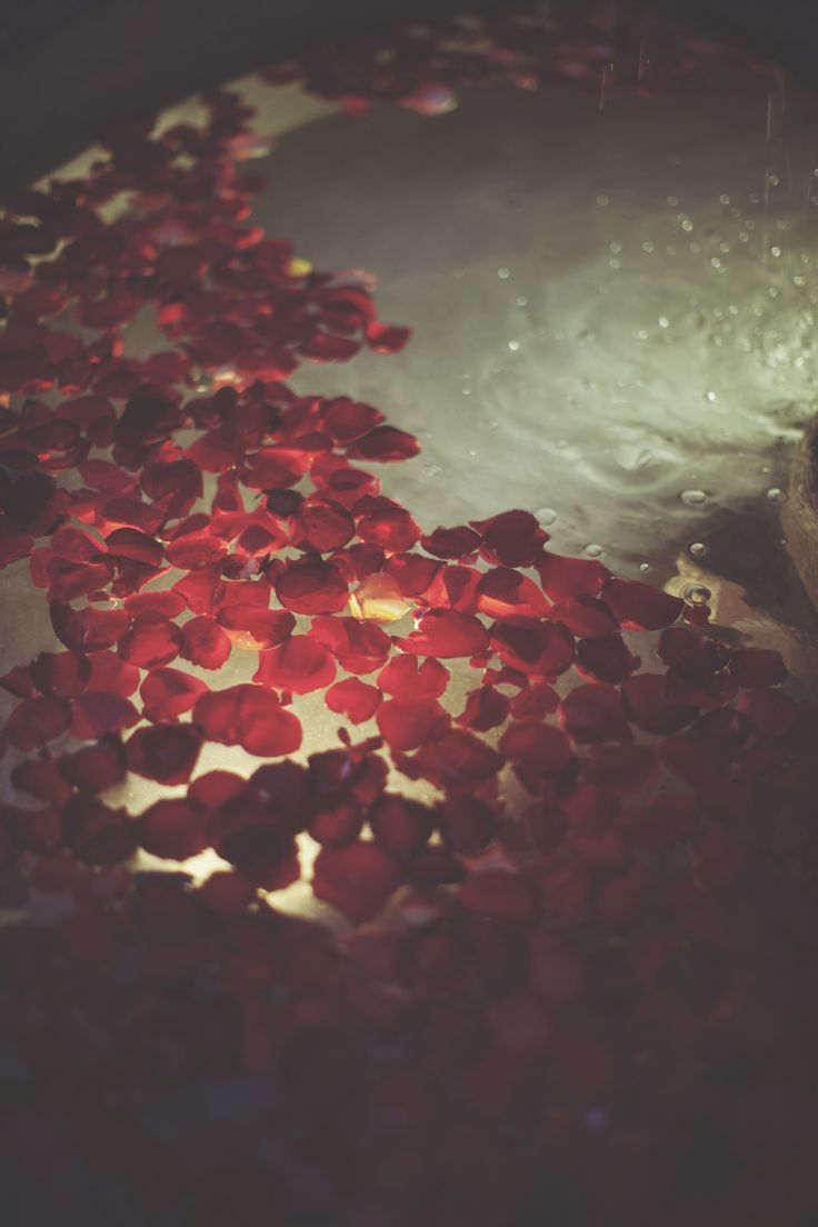 that's soooo romantic #roses #bath #night   Rituals ...