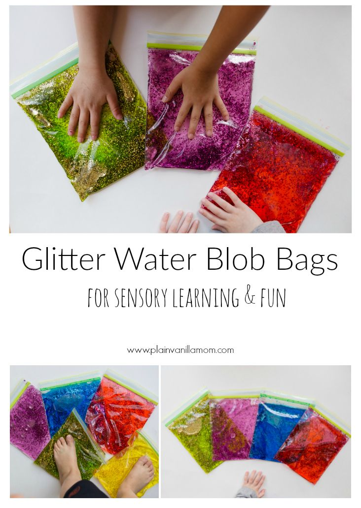 Have some squishy fun with Glitter Water  Blob Bags Sensory Bags