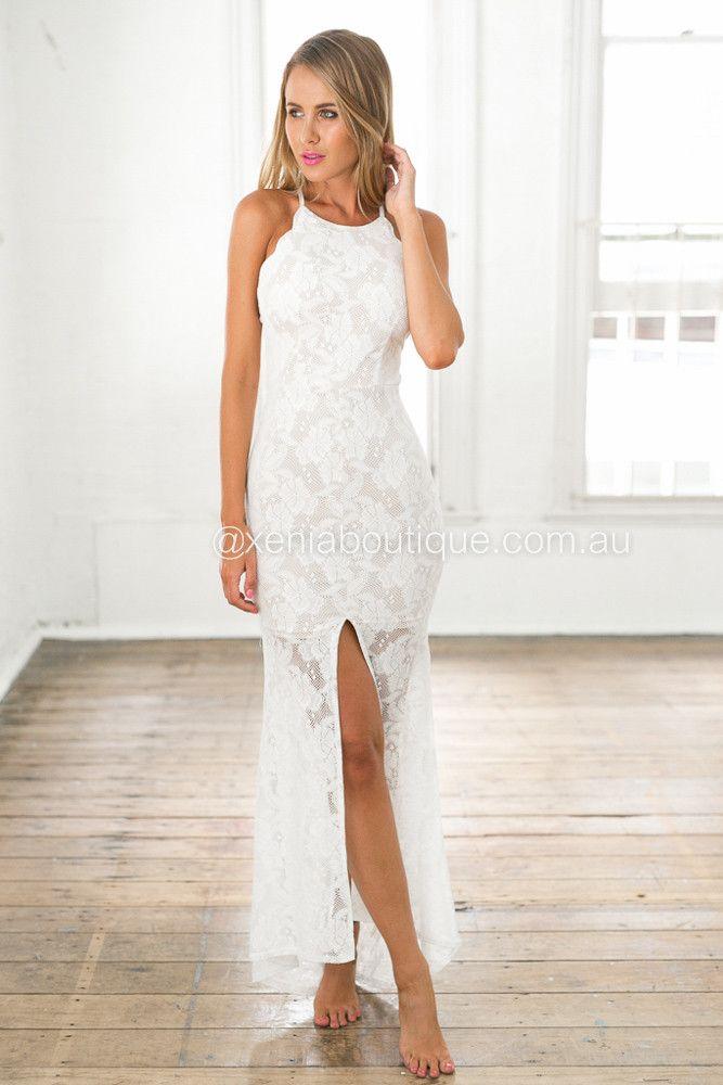 Xenia Boutique - Inka Lace Maxi Dress (White)