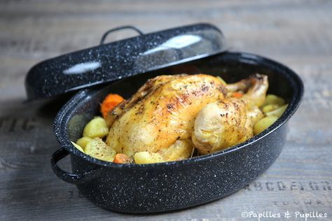 #Recette #Poulet #cocotte aux #pommes de terre et #patates douces #PommesDeTerre #PatatesDouces