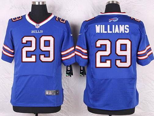 buffalo bills 29 karlos williams royal blue team color nfl elite mens jersey