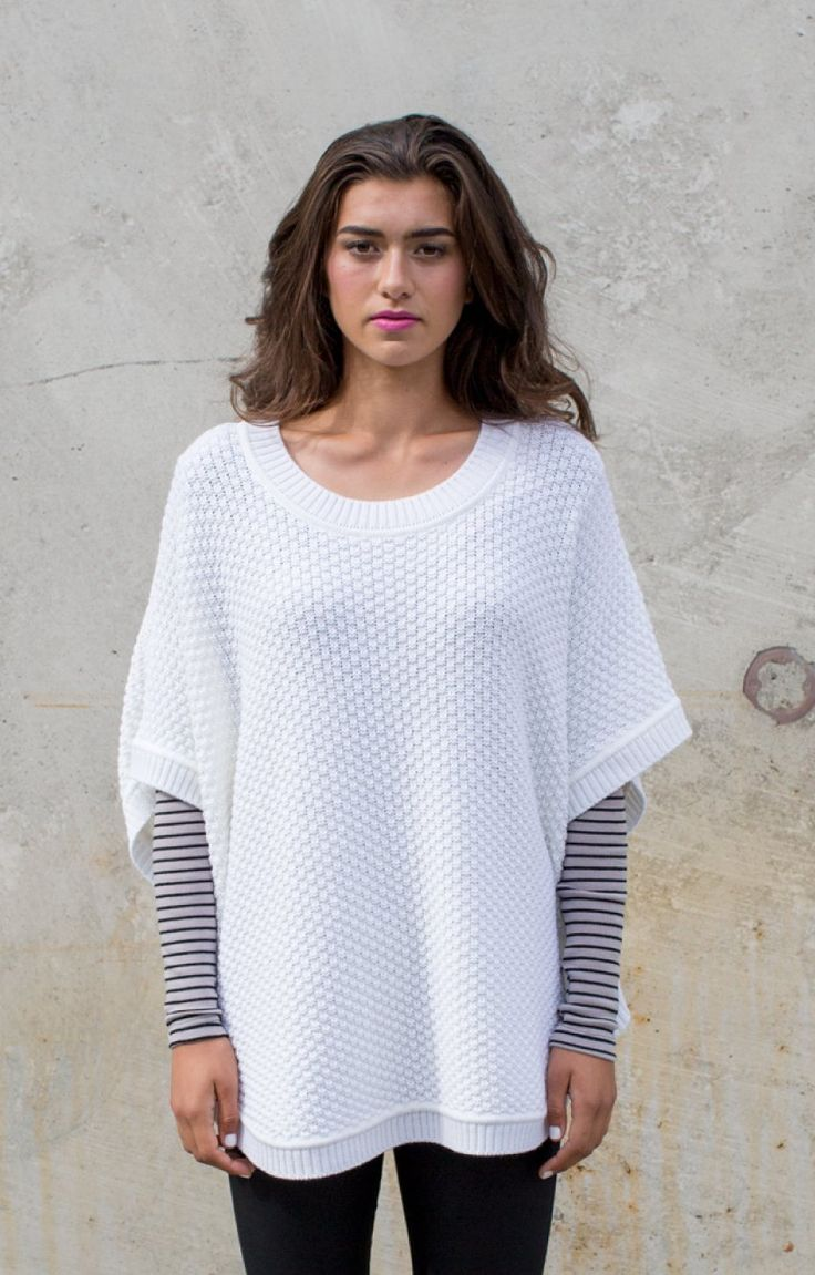 Moss Stich Crew Neck Poncho - COMING SOON