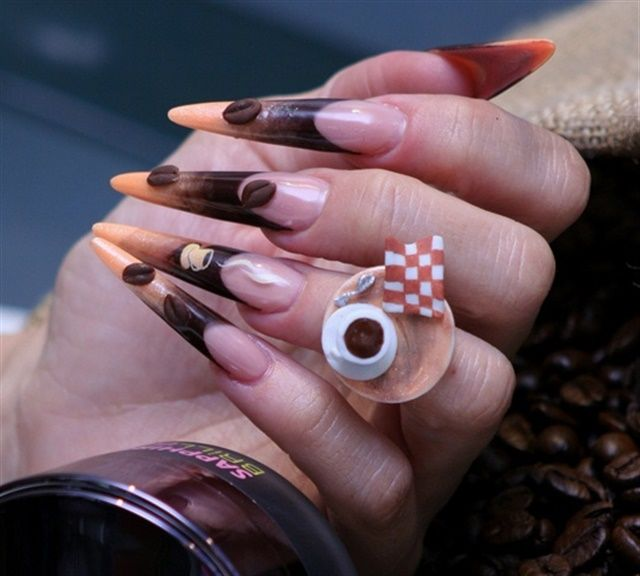 32 best fantasy nail art images on pinterest beautiful nail art nail art for national coffee day prinsesfo Choice Image