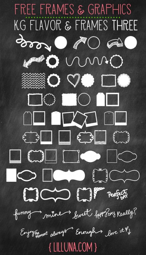 LOVING all these Free Frames and Graphics!! You can use them for so many things!