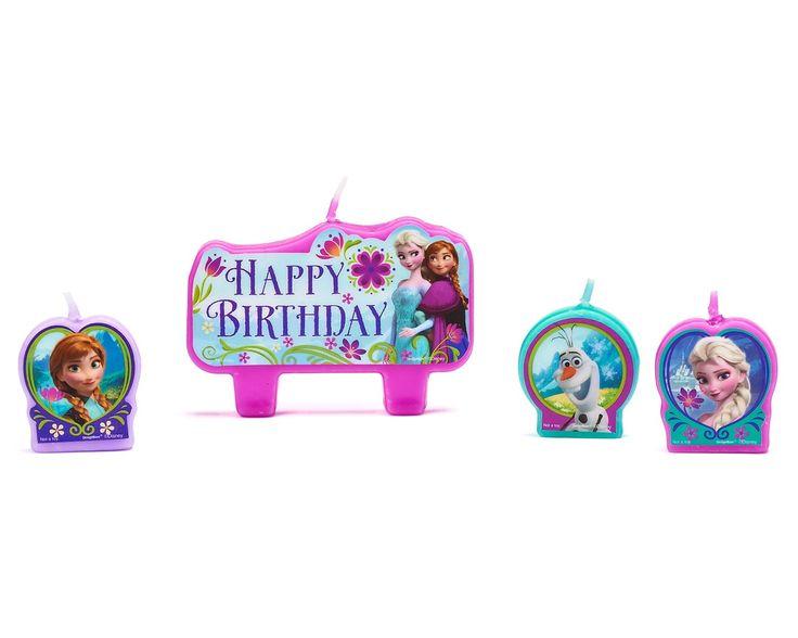 Disney Frozen 4-Pack Olaf,Elsa & Anna Candles: Amazon.co.uk: Toys & Games