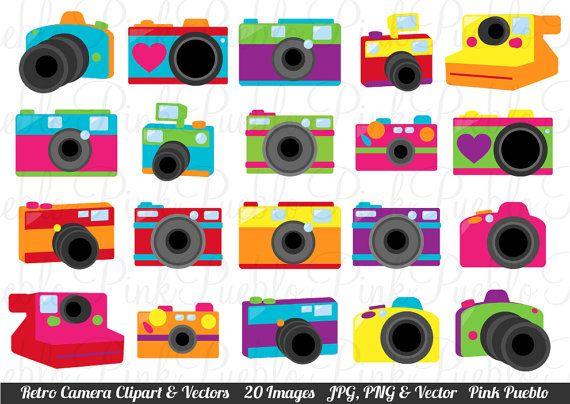 Cute Retro Camera Clipart Clip Art Vectors Great For Photography Logos