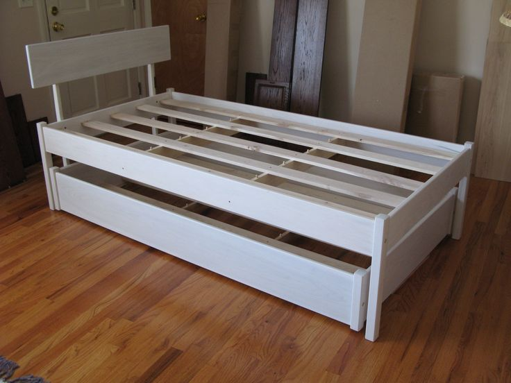 solid wood trundle bed that accomodates a normal 8 to 9 inch mattress will take care of company if you are looking for a daybed we also make a custom day