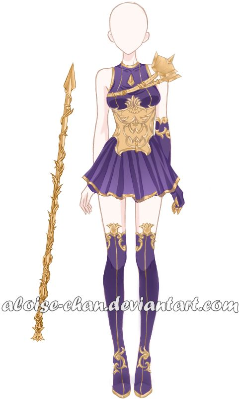 [OPEN] Tendrils Spear and Armour Adoptable by Aloise-chan on DeviantArt
