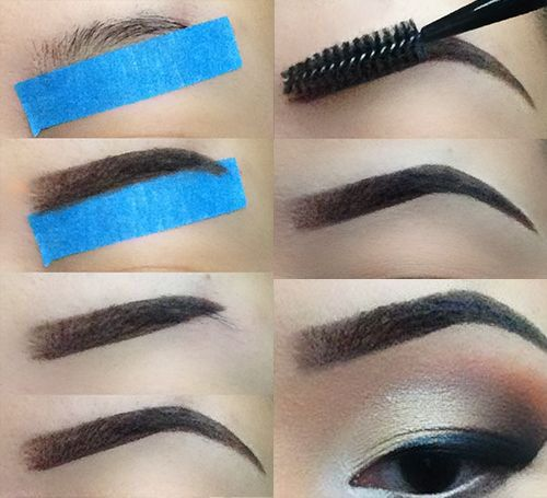 The art of shaping eyebrows