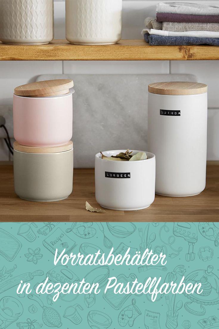 Vorratsbehälter in dezenten Pastellfarben #küche