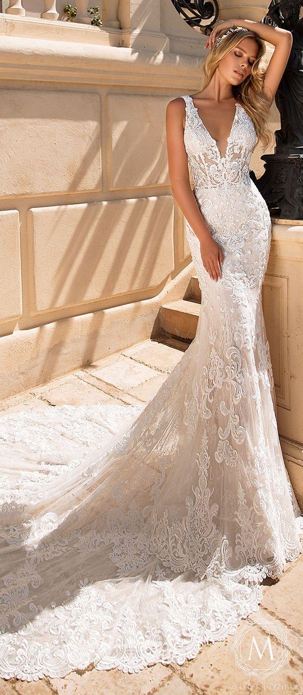 Moonlight Bridal Glamorous Wedding Dresses For 2019 Glamourous Wedding Dress Wedding Dress Couture Lace Mermaid Wedding Dress