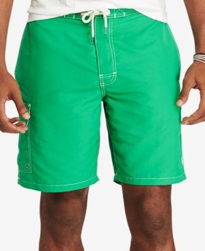 Polo Ralph Lauren Men's Big & Tall Kailua Swim Trunks - Green 2XB