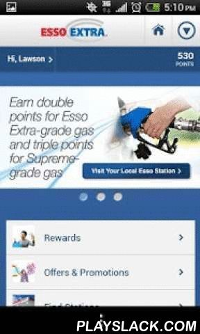 Esso Extra App  Android App - playslack.com , Log in and check out your Esso Extra account no matter where you are! Track your points, monitor your progress towards rewards, find exclusive offers or get directions to the closest Esso station. Esso Extra is the fastest way to the rewards you want. Your points add up fast! Whether it's at the pump or in the store, every eligible purchase adds up to points that can be redeemed for great rewards such as gas, car washes, gift cards and more…