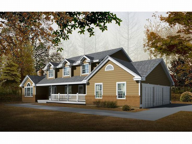 country style house plans 2909 square foot home 2 story 4 bedroom and 3 bath 3 garage stalls by monster house plans plan - 2 Story Country House Plans