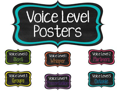 FREE Voice Level Posters to help manage the noise level in your classroom!