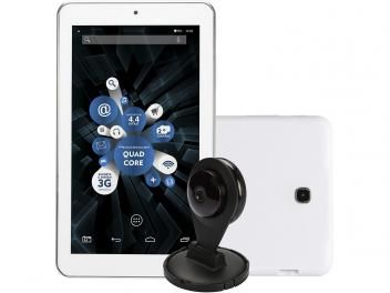 "Tablet DL Tab Cam 8GB Tela 7"" Wi-Fi Android 4.4 - Proc. Quad Core Câm. 2MP + Frontal com Câmera IP"