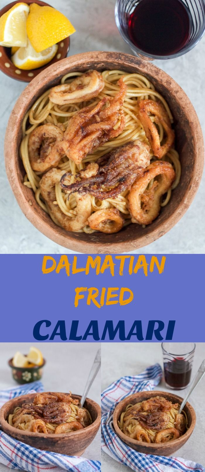 I hope today's crispy and sensational, Dalmatian fried calamari will inspire you to put some seafood on this week's menu.