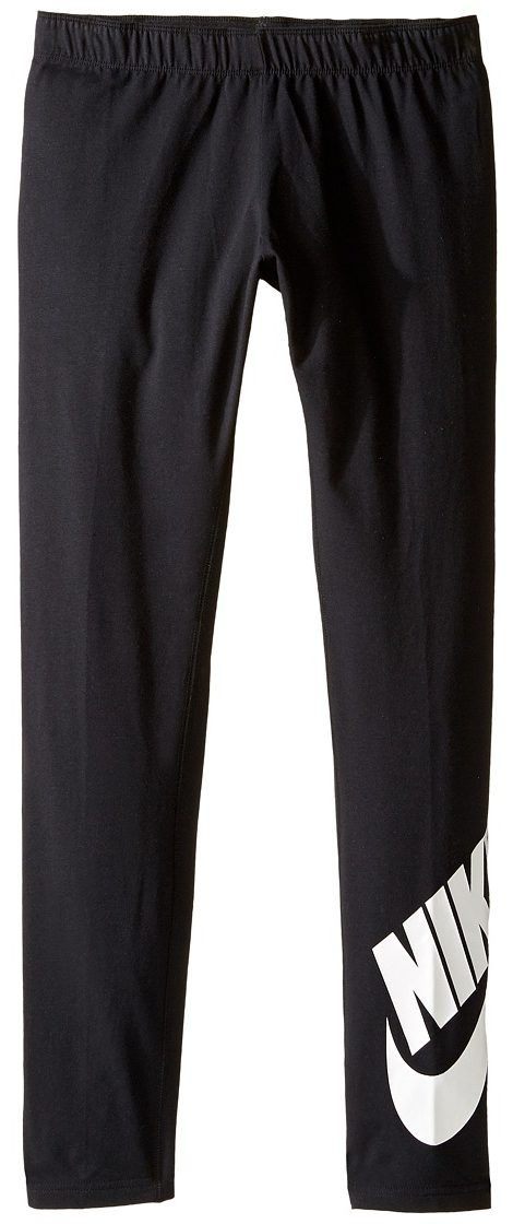 Nike Kids Sportswear Leg-A-See Tight (Little Kids/Big Kids) (Black/White) Girl's Casual Pants - Nike Kids, Sportswear Leg-A-See Tight (Little Kids/Big Kids), 851984-010, Apparel Bottom Casual Pants, Casual Pants, Bottom, Apparel, Clothes Clothing, Gift - Outfit Ideas And Street Style 2017