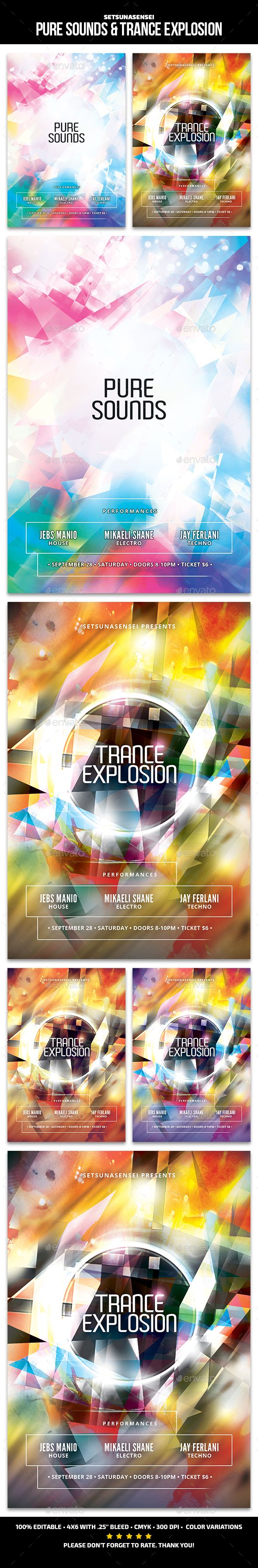 Pure Sounds & Trance Explosion Club Flyer