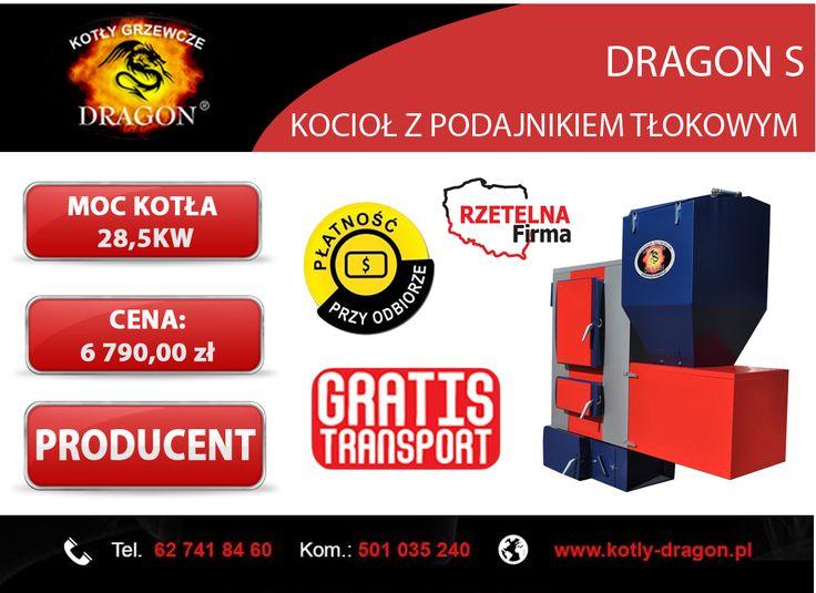 🔸 Kocioł z podajnikiem tłokowym DRAGON S 28,5 KW  🔸 Wejdź w bezpośredni link do aukcji kotła 👍  ▶http://allegro.pl/kociol-piec-podajnik-tlokowy-producent-28-5-kw-i6285159499.html  ▶KONTAKT:  📞tel./fax: 62 741 84 60 📞kom. 501 035 240  📨e-mail: biuro@kotly-dragon.pl 📨e-mail: handlowy@kotly-dragon.pl  ▶Zapraszamy również na nasze aukcje allegro: http://allegro.pl/listing/user/listing.php?us_id=34032782  ▶Oraz stronę internetową: http://www.kotly-dragon.pl/  #KOCIOŁ #KOTŁY #PIEC #PIECE…